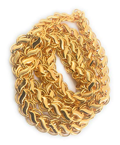 AFJ GOLD One Gram Micro Gold Plated Traditional Designer Daily Wear Chain for Women and Girls (24 inch)