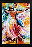 Modern Art Beautiful Dancing Painting with Frame (13x19) in