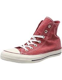 Converse All Star Hi Leather, Chaussures de Gymnastique mixte adulte Noir (Schwarz) 44.5 EU