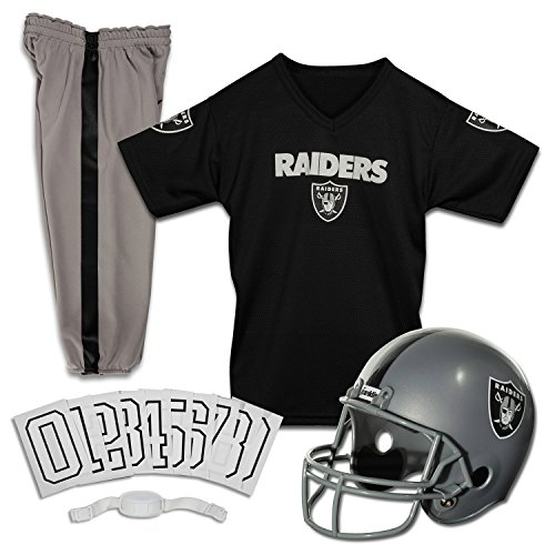 Raiders Oakland Uniformen (Caseys Verteilen 2572529014 Oakland Raiders Football Deluxe Uniform Set-Gr--e)