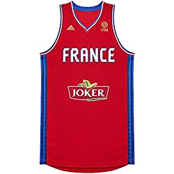 adidas–Fútbol–Francia Réplica Camiseta–Red–L