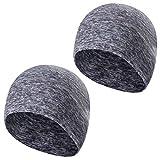 Tagvo Felpa invernale Beanie, cappellino running Beanie Hat con coperchi auricolari, fodera casco per adulti donne e uomini dimensione elastica universale