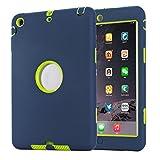 iPad Mini 1/2/3 Custodia, TKOOFN Custodia Ibrida Antiurto Resistente Tre-strati Cover + Pennino Nero 9.0 + Schermo Protettore + Panno Per iPad Mini 1/2/3