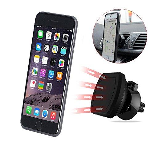 Soporte Auto, CUXUS coche universal soporte de coche ventilación magnético Soporte para teléfono móvil para iPhone 7/7 Plus/6/6s Plus/5/Samsung S8/S7/S6/S6 eage/Note5 Smartphone o GPS de dispositivo (Negro)