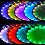Lysignal 180 LEDs Flexible Wasserdicht LED Selbstklebend Unterbodenbeleuchtung 7 Farben mit Sound Active Function und drahtlose Funkfernbedienung