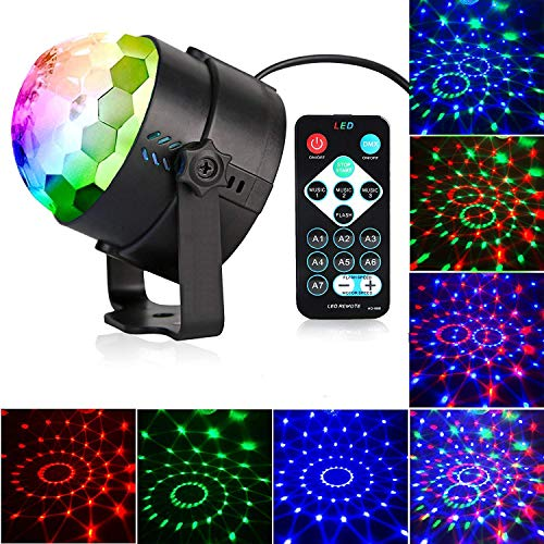 Yizhet Discokugel Partylicht LED Disco Lichteffekte Discolicht Partybeleuchtung Led Disco Ball Light Partybeleuchtung mit Fernbedienung für Partei, Geburtstagsfeier, Bar, Karaoke, Hochzeit