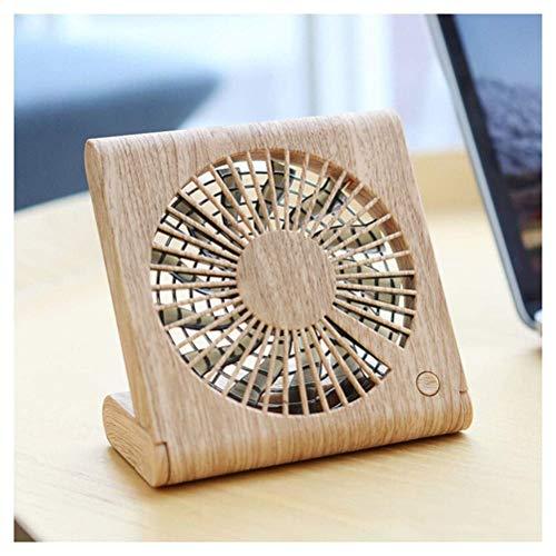 lator Mini-USB-Ventilator Holztisch Tischventilator Persönlicher Handheld Tragbarer, leiser, wiederaufladbarer Akku USB-betrieben 1200 mAh 13 Ventilatoren 3 Windgeschwindigkeit Hom ()