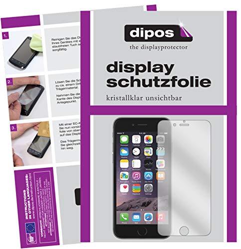 dipos I 6X Schutzfolie klar passend für Apple iPhone 6S Folie Displayschutzfolie