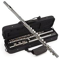 Windsor MI-1002 - Flauta niquelada para estudiantes con la tecla de división E incluye