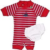 Fred's World by Green Cotton Baby-Mädchen Einteiler Swimsuit, Rot (Red 019176206), 92 (Herstellergröße: 92/98)