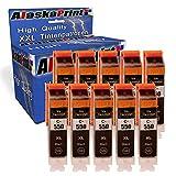 10x Druckerpatrone Komp. für Canon 550 pgbk PGI-550 XL Schwarz Black mit Canon Pixma IP7250 IP-7250 MX925 MX-925 IX6850 IX-6850 MX725 MX-725 Patronen