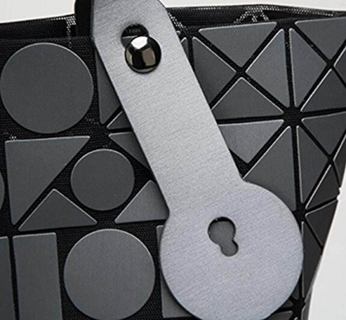 FZHLY Versione Coreana Del Semplice Pacchetto Selvaggio Laser Geometrica Ling Griglia Pieghevole Handbag,Red Red