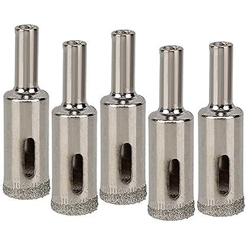 DN 14 mm OD Dia Diamond Drill recubierto de mármol Bit Teja de cristal agujero consideró la herramienta del cortador (paquete de