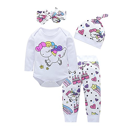 Mingfa.y_Baby Clothes Outfits Clearance Sale Mädchen Schlafanzug Gr. 6-12 Monate, weiß