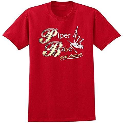 Bagpipe Babe Attitude - Música T Shirt 13 Tamañon 5 Años - 6XL - 9 Colores MusicaliTee