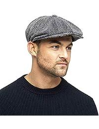 e1f675926d201 Herringbone Newsboy 8 Panel Baker Boy Tweed Flat Cap Mens Gatsby Hat