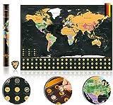 Bereko Weltkarte zum Rubbeln + Inseln Übersichtskarte -