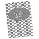 Mr. & Mrs. Panda Postkarte Beste Patentante der Welt - 100% mit Liebe handgefertigt - Geschenk Geschenkidee Danke Dankeschön Anhänger Bedanken Geburtstag Weihnachten Jubiläum Valentinstag Schenken Liebe Danke Liebesgeschenk