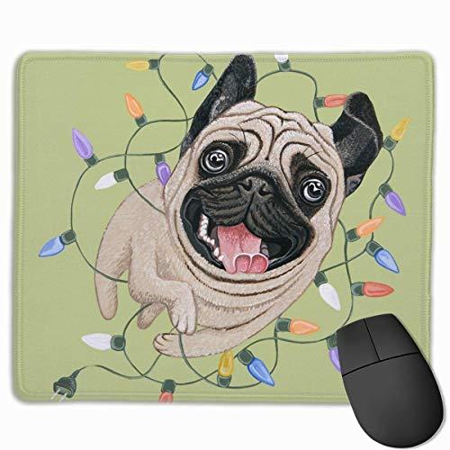 e Pad kleine leichte Mops Hund dekorative Mousepad Matte Gummi Base Home Decor für Computer Laptop Office Zubehör Schreibtisch Dekor ()
