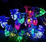 6M 30 LED Solar LED Lichterketten mit Multicolor Blumen Wassertropfen für Weihnachten, Terrasse, Rasen, Zaun, Outdoor, perfekte Inneneinrichtungen, Outdoor, Weihnachtsbaum, Einkaufszentrum, Urlaub & Festival Celebration (30 Bälle-RGB)