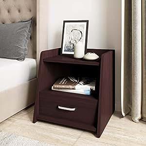 Amazon Brand - Solimo Rigel Engineered Wood Bed Side Table (Classic Ebony Finish)