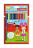 Crayon de coloriage - STABILO color - Étui carton de 18 crayons de couleur