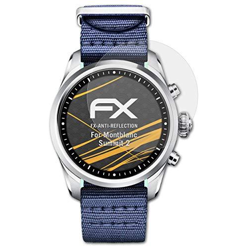 atFoliX Panzerfolie kompatibel mit Montblanc Summit 2 Schutzfolie, entspiegelnde & stoßdämpfende FX Folie (3X)