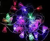HOMEE Decorazioni Natalizie Santo Scene Albero Di Natale Pendente Led Luci Luci Di Natale Luci Di Natale,Le luci colorate delle campane