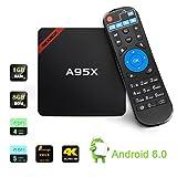 NEXBOX Android 6.0 TV Box A95X Amlogic S905X Quad Core 2.0GHz XBMC 1Go/8Go VP9 Ultra 4K HDR HEVC Diffusion Lecteur Multimédia Enraciné avec WiFi SPDIF
