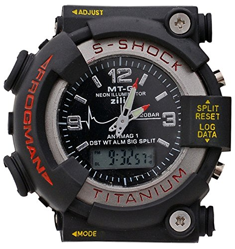 Pappi Boss Pappi Boss Digital & Analog Black Dial Sports S Shock Watch for Boys, Men