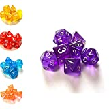 SmartDealsPro Set of 7 Dungeons and Dragons DND RPG MTG Table Games Dice(7 Colors Available)