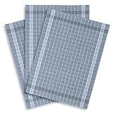 ziczac-affaires KRACHT, 3er-Set Geschirrtuch Halbleinen Trockenperle Fresh blaugrau, Edition, ca.50x70cm