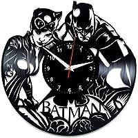 EVEVO Batman y Catwoman Reloj de Pared Vinilo Tocadiscos Retro de Reloj  Grande Relojes Style habitación d8c417c83c5
