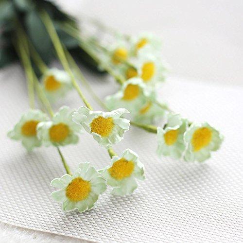 Longra Wohnaccessoires & Deko Kunstblumen Künstliche Seide Fake Blumen kleine Daisy Hochzeit Bouquet Party Home Decor Blumen (B)