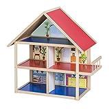 Impag Großes Puppenhaus Puppenstube aus Holz 55 x 35 x 25 cm