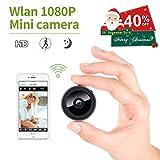 Kleiner! Mini Kamera, KinCam 1080P Full HD Wireless Überwachungskamera Nanny Cam Kamera mit Bewegungmelder für iPhone/Android/iPad