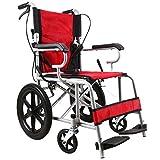 QXMEI Sedia A Rotelle Ultraleggera Del Motorino Disabile Anziano Pieghevole Portatile Leggero Leggero Della Sedia A Rotelle,Red