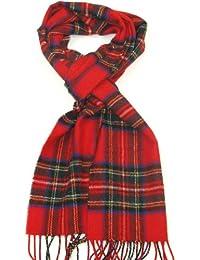 Lovarzi Schottenkaro Wolle Schal für Damen und Herren - Schal für Winter - Hergestellt in Schottland