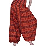 Textile Export Harem Pants For Women Free Size, Rayon Rajasthani Hand Printed Combo Pack Of Cotton Semi Patiala Salwar Free Size Pants & Capris Pajama Yoga Pants Exclusive Trousers & Capris Pajama Indian Boho Hippie Ali Baba Baggy Pants Women Trou
