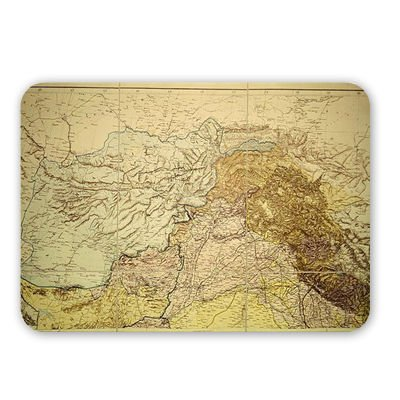 Map of Afghanistan, 1898 (colour engraving).. - Mouse Mat Art247 Highest Quality Natural Rubber Mouse Mats - Mouse Mat