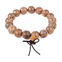 HOUSWEETY Bodhi Beads Tibetan Buddhist Prayer Bracelet Mala