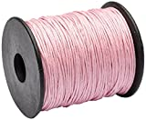 Beads Unlimited 1 mm Cotton Waxed, Pack of 100 m, Pale Pink