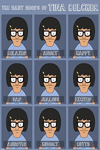 Bob's Burgers - Moods of Tina Poster (60,96 x 91,44 cm) (Von Tina Bobs Burgers)