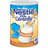 Nestlé Bébé P'tite Céréale Biscuité - Céréales Déshydratées dès 6 Mois - Boîte de 400g - Lot de 4