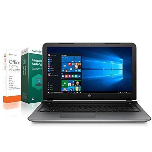 HP 15 bw040ng Notebook (15,6 Zoll) - AMD Core 2.00 GHz - 8 GB DDR4 RAM - 1000 GB - HDMI - Windows 10 Pro - AMD Readon R2 Grafik - HD Webcam + Kaspersky Internet Securtiy 2018 + Office 365 Personal