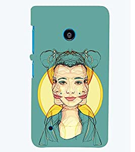 PRINTSWAG GIRL MULTI FACES Designer Back Cover Case for NOKIA LUMIA 530