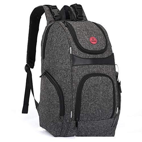 Doppel Schnalle-tasche (Mzl Mumie Tasche Doppel Schulter Multifunktions Windel Tasche kreative USB-große Kapazität Mode Spritzschutz (45 * 30 * 15 cm))
