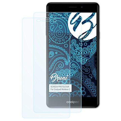Bruni Schutzfolie kompatibel mit Coolpad Modena 2 Folie, glasklare Bildschirmschutzfolie (2X)