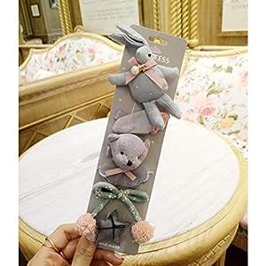 Adiken Haarnadeln für Babys, Mädchen, süßes Hasenhaar, mit Schleife, Blume, Haarschmuck, Geschenk, 5 Stück