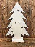Weihnachtsbaum Holz Deko Tannenbaum Holzbaum Baum X-mas 60 cm weiß